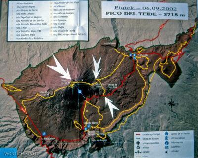051 - Pico del Teide - mapka