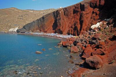 Santorini - czerwona plaża