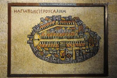 104 - Replika mozaiki zMadaby (Jordania)