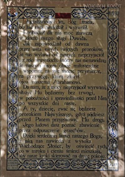128 - Benedict -słowa dziękcz.Zachariasza