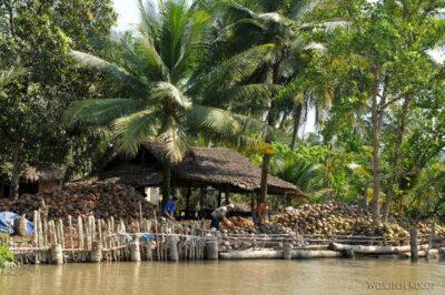 3W8064-Delta Mekongu - przetwarzanie kokosów