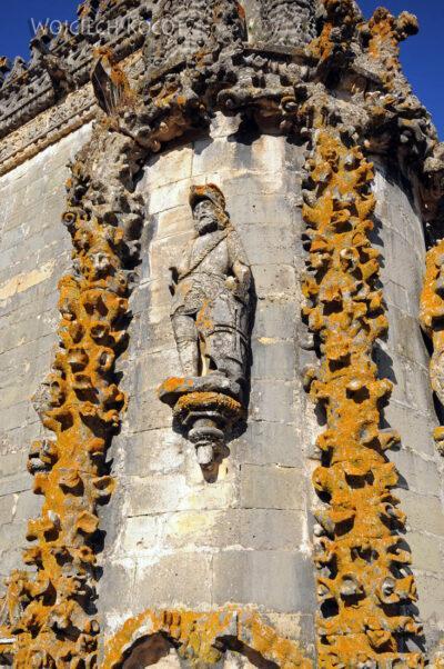 Por16282-Tomar - Klasztor-Zamek - detale przy Okne Manuelińskim