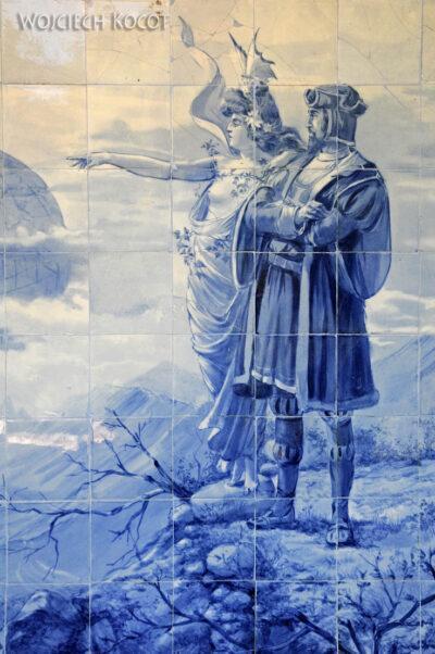 Por18064-Buçaco - Pałac - azulejos nakrużgankach