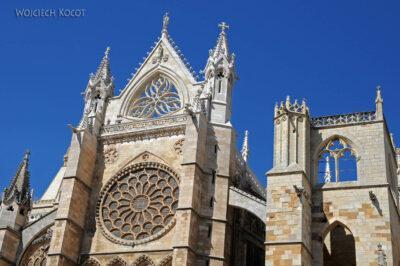Por20069-Leon - Katedra - detale fasady południowej