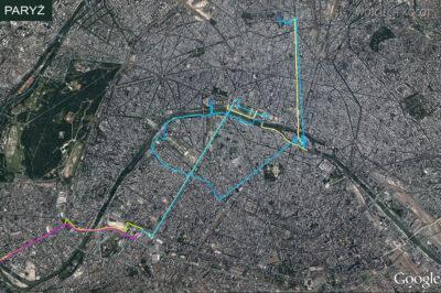 Por23003-Mapka - zwiedzanie Paryża