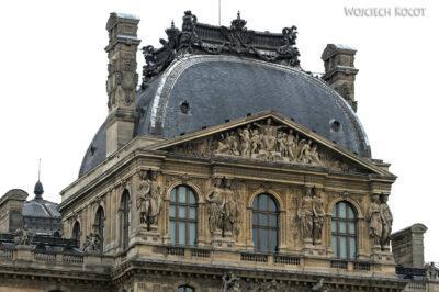 Por23022-Paryż - Luwr - detale architektoniczne