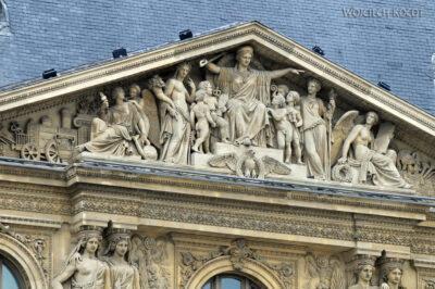 Por23023-Paryż - Luwr - detale architektoniczne