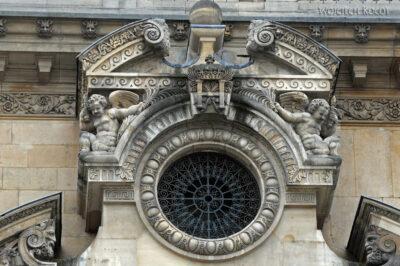 Por23030-Paryż - Luwr - detale architektoniczne