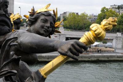 Por23062-Paryż - Point Alexandre III - detale