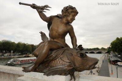 Por23065-Paryż - Point Alexandre III - detale