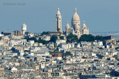 Por23117-Paryż - Wieża Eifla - widok naSacré-Coeur