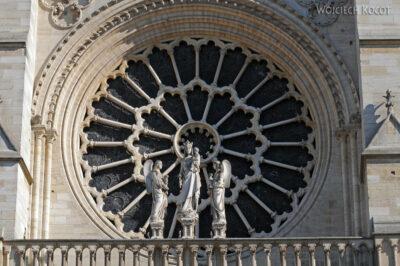 Por23193-Paryż - Notre-Dame - rozeta E