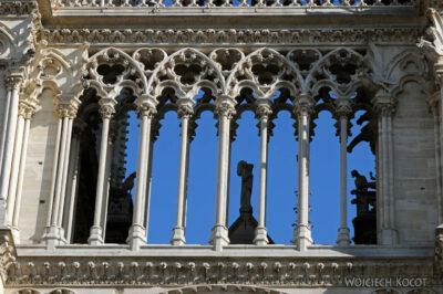 Por23197-Paryż - Notre-Dame - fasada E - detale