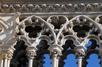 Por23198-Paryż - Notre-Dame - fasada E - detale