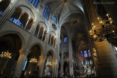 Por23221-Paryż - Notre-Dame - wnętrze