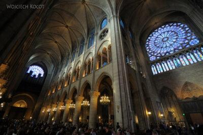 Por23223-Paryż - Notre-Dame - wnętrze