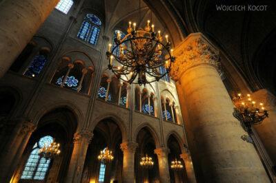 Por23227-Paryż - Notre-Dame - wnętrze