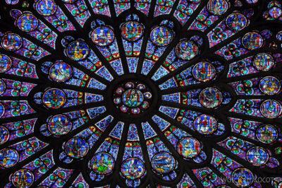 Por23237-Paryż - Notre-Dame - witraże