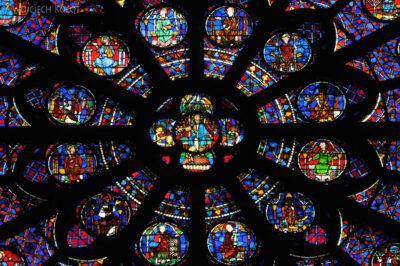Por23253-Paryż - Notre-Dame - witraże