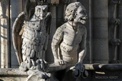 Por23271-Paryż - Notre-Dame - detale nawieży
