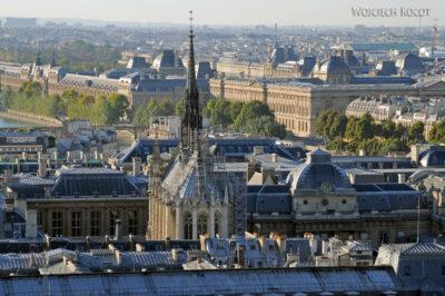 Por23293-Paryż - Notre-Dame - widoki zwieży