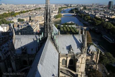 Por23298-Paryż - Notre-Dame - widoki zwieży