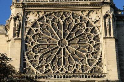 Por23304-Paryż - Notre-Dame - rozeta S