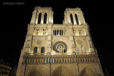 Por23337-Paryż - Notre-Dame nocą
