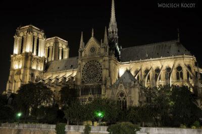 Por23341-Paryż - Notre-Dame nocą