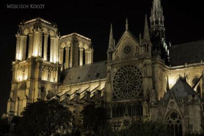 Por23342-Paryż - Notre-Dame nocą