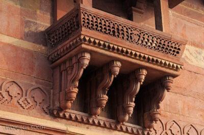 IN03144-Fatehpur Sikri - budowle postronie NW