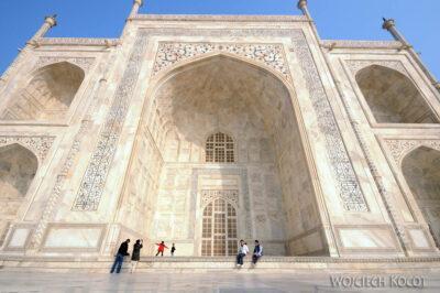 IN04251-Agra-Taj Mahal - fasada zachodnia
