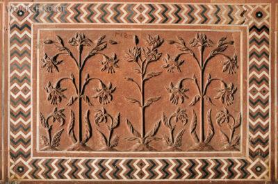 IN04280-Agra-Taj Mahal - budynek wschodni (Jawab) - detal