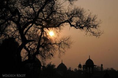 IN04311-Agra-Wieżyczki Taj Mahal ozachodzie