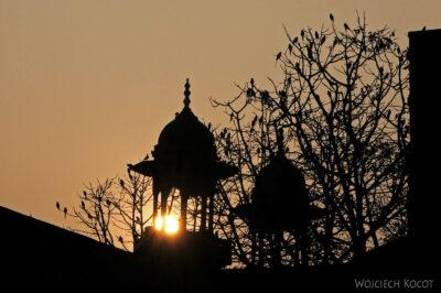 IN04312-Agra-Wieżyczki Taj Mahal ozachodzie