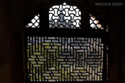 IN05123-Orcha-Raja Mahal (pałac stary) - misterna kamieniarka okienna
