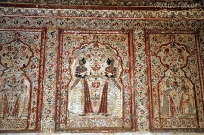 IN05128-Orcha-Raja Mahal (pałac stary) - wnętrza