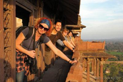 IN05177-Orcha-Jehangir Mahal (pałac nowy) - Cztery Gracje