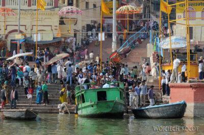 IN08061-Waranasi-widok nanabrzeże Gangi
