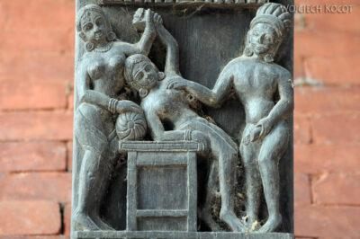 IN10026-Waranasi-Świątynia Nepalska - detale