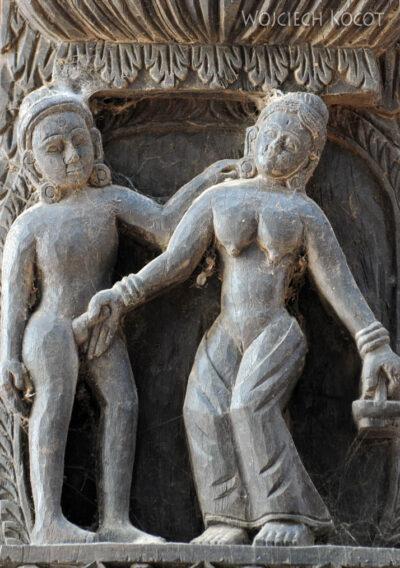 IN10027-Waranasi-Świątynia Nepalska - detale