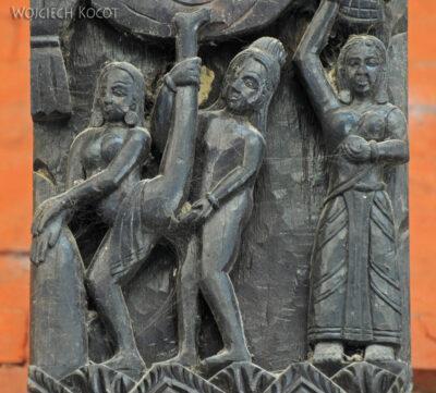 IN10029-Waranasi-Świątynia Nepalska - detale