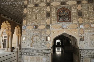 IN24047-Jaipur-Amber Palace - sala lustrzana