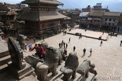 IN14124-Kathmandu-Bhaktapur-widok zpagody