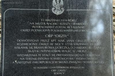 BałtF018-Tallinn-Tablica Pamiątkowa ORP Orzeł
