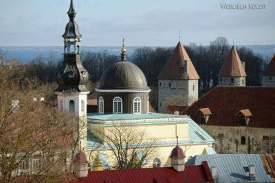 BałtF034-Tallinn-Widok naDolne Miasto zGórnego