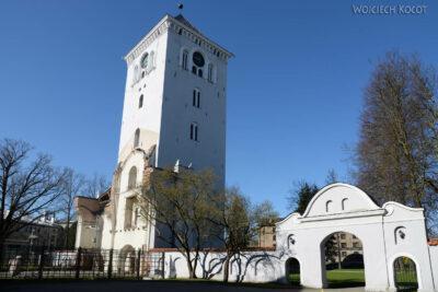 BałtJ034-Jelgava-Kośc Trójcy Przenajświętszej-sama wieża