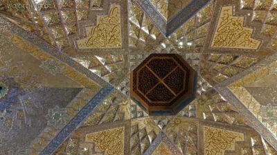 Irng061-Mashhad-nocą przy grobie Imama Rezy