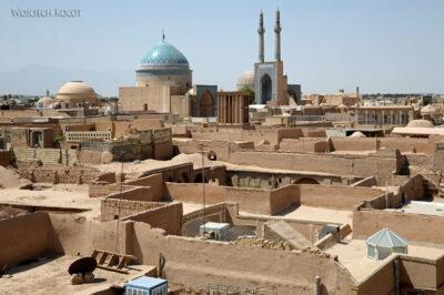 Irnk006-Jazd-hotel Dalan e Behesht-widok zdachu