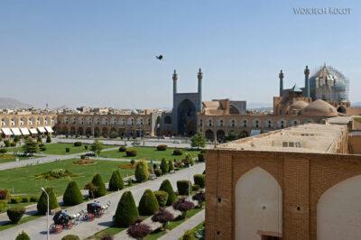 Irnr119-Isfahan-widok zPałacu naMeczet Szacha